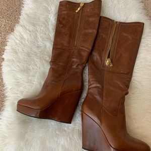 Steve by Steve Madden leather wedge boot